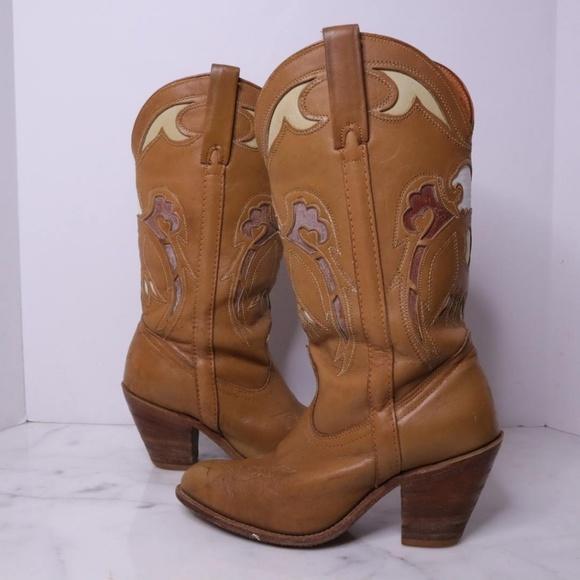 c1f52de5e02 VTG Miss Capezio Eagle Western Boots Cowgirl 9 USA